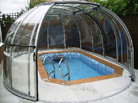exercise pool and enclosure
