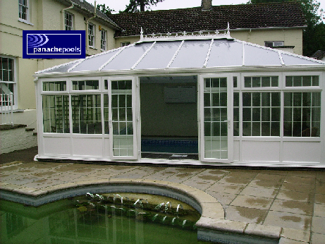 pool building, conservatory style pool building