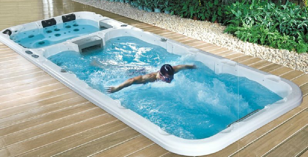 Swim spas endless exercise pool for Swimming spa
